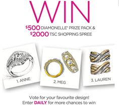 The Shopping Channel, Beauty Contest, Win Prizes, Shopping Spree, Spa Day, Giveaways, Fine Jewelry, Perfume, Jewlery