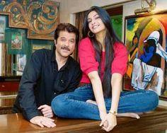 Sonam Kapoor with her dad Anil Kapoor