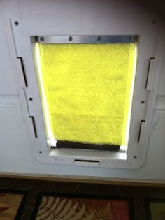 I inherited a dog door when moving into a new house and soon realized that it was much too drafty for my energy conscious needs. I have bee...