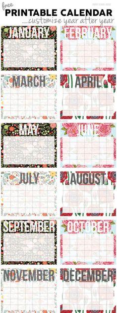 Free 2018 Monthly Printable Calendars Printable Calendars Free
