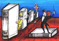 Concierto de libros (ilustración de Emanuele Luzzati)