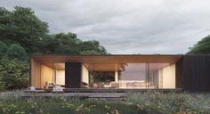 Strom Architects Utilise Nature to Create the 'Island Rest' - OPUMO Magazine Wood Architecture, Japanese Architecture, Residential Architecture, Roof Design, Exterior Design, Seaside Getaway, British Seaside, Farmhouse Design, Bungalow