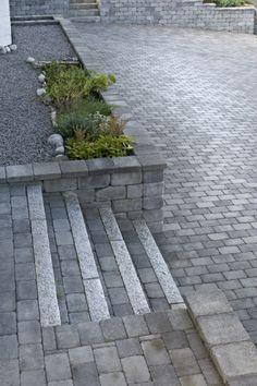 Bilderesultat for trapp stein Garden Steps, Side Garden, Outside Stairs, Outdoor Steps, Private Garden, Shop Plans, Curb Appeal, Garden Landscaping, Garden Design