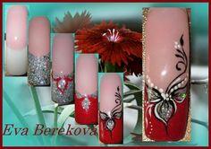 Nail art by Eva Berekova Great Nails, Cute Nail Art, Love Nails, Beautiful Nail Designs, Cute Nail Designs, One Stroke Nails, Abstract Nail Art, French Tip Nails, Nail Studio