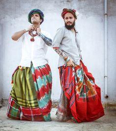 #androgynous #androgynousstyle #skirts #men #mensfashion #indian #traditional #textiles #handwoven #saris #saree #colour #patch #sanjukta