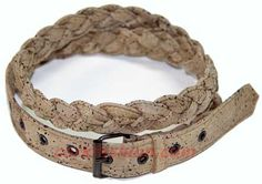 Cork Belt (model RC-GL0104004041) - Eco-friendly - made of real cork. From www.corkfashion.com