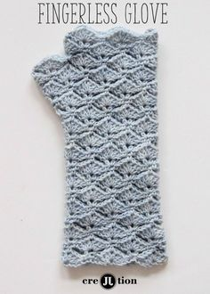 Free Pattern Crochet Fingerless Gloves | Crejjtion