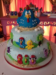 Mais um bolo da Galinha Pintadinha by Mimos da Vê!!!!
