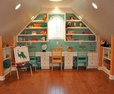 Beautiful Modern Attic Playroom for Kids | Furnikidz.com | Best ...