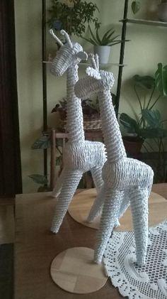Girafas con técnica de cestería