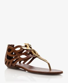 Faux Leather Cutout Thong Sandals | FOREVER21 - 2039339068