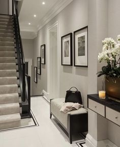 Your hallway sets the mood and tone for your entire home, so rather than playing it safe, create a vibrant and welcoming space that reflects both your taste and the style of the rest of the house...#hallway #decorating #ideas #homedecoronabudget