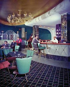 Mid-century 1950s Ritz Hotel bar in Vancouver, BC, Canada