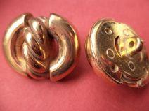 5 METALLKNÖPFE gold 28 x 25mm (4248-4)Knopf Metall