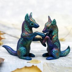 Polymer Clay Figures, Polymer Clay Animals, Polymer Clay Miniatures, Playboy, Clay Fox, Fox Totem, Clay Studio, Pet Memorial Gifts, Clay Figurine