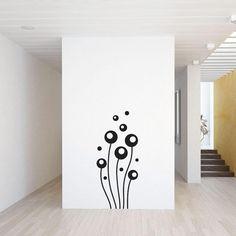 Abstrakte blomster wallsticker