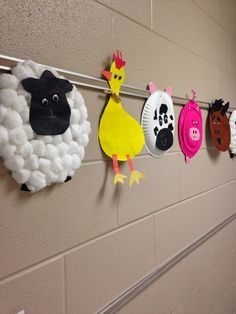 Paper plate farm animal crafts