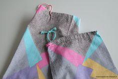 Kissankäpälä: Nyöripusseja, drawstring fabric bags Fabric Bags, Canvas Bags, Fabric Purses