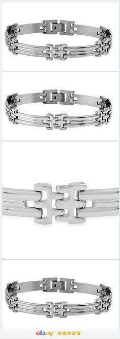 Mens Gents Stainless Steel Bracelet 9 in USA SELLER    eBay  50% OFF #EBAY http://stores.ebay.com/JEWELRY-AND-GIFTS-BY-ALICE-AND-ANN