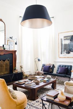 The What and Why – Classic, Modern Living Room | gorgeous interior design by Claire Brody - you must see the before photos to fully appreciate the fabulous job she did.