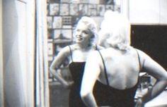 Marilyn at Milton Greene's New York studio. Photo by Milton Greene, 1955.