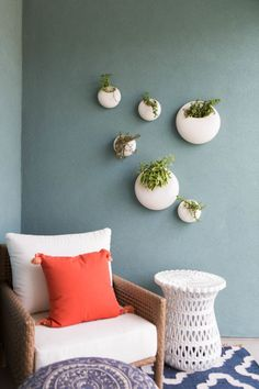 Modern Mounted Plant Planters