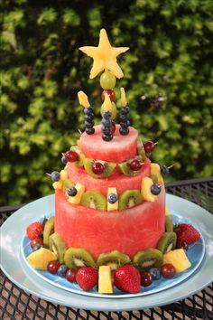 all fruit birthday cake - photo #13