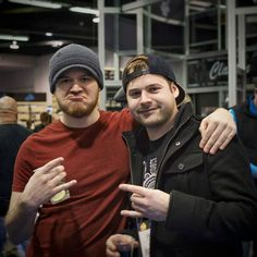 Rob Scallon and Jared Dines YouTube superstar musical funny guys at NAMM 2016