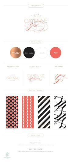 Cayenne Girl Branding // by Emma J Design