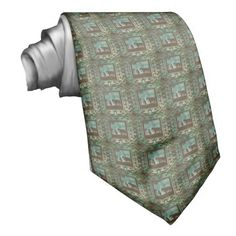 Western Cowboy Prayer Mens Necktie