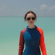 40% OFF! Kids Sailing UV Clothing| Long Wave Swimshirt - Blaze orange | Nipper Skipper