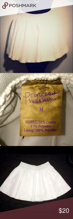White Skirt Princess by Vera Wang. Comfortable waistband , Worn once 💕 Vera Wang Skirts Circle & Skater
