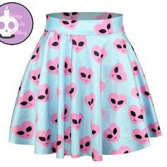 Pastel alien skirt