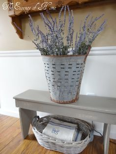 Olive bucket....PB has some. Hhhmmmm! So cute! The Essence of Home
