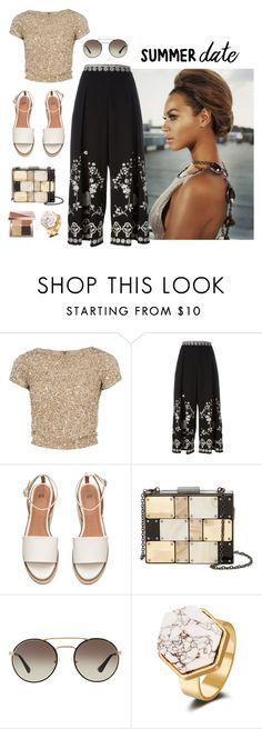 """Burning Desire"" by fieryice ❤ liked on Polyvore featuring Alice + Olivia, Temperley London, Sondra Roberts, Prada, Bobbi Brown Cosmetics, summerdate and rooftopbar"