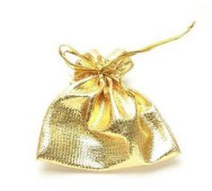 Wholesale! 50pcs a lot sell! Golden style colour Pouch fit for ring/Earring/chain nice gift bag  Unique style package jewelry US $7.99