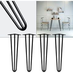 Patas horquilla mesa set4 acero 36cm Hairpin Legs dise/ño industrial retro vintage bricolaje muebles