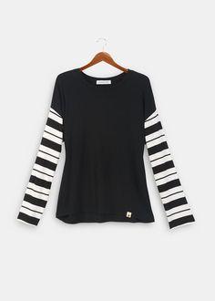 Striped Sleeve Cecily Tee