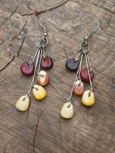 Indian Corn Earrings fashion jewelry autumn fall earrings unique indian corn