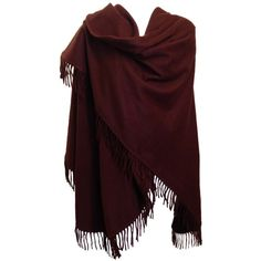 Loro Piana Burgundy Cashmere Shawl ($45) ❤ liked on Polyvore featuring accessories, scarves, outerwear, jackets, shawl, cashmere shawl, shawl scarves, loro piana, cashmere scarves and wrap shawl