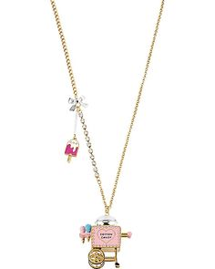 COTTON CANDY CART PENDANT MULTI accessories jewelry necklaces fashion