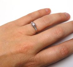 A Sweet Diamond Engagement Ring Circa 1930 made by SummitJewelers, $535.00