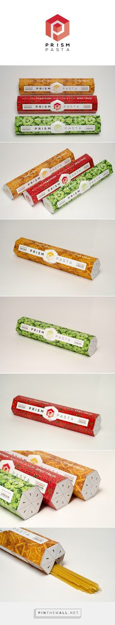 Prism Pasta by Matthew Quann. Source: Behance. Pin curated by #SFields99 #packaging #design #structural
