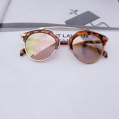 "Meg Rimless Cateye Sunglasses Meg Rimless Cateye Sunglasses 6 X 2.0"" approx. Accessories Sunglasses"