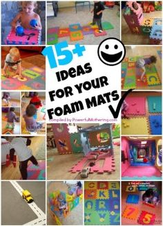 15 Plus Ideas for your Puzzle ABC or Number Foam Mat - Powerful Mothering Toddler Play, Baby Play, Toddler Preschool, Toddler Books, Infant Activities, Activities For Kids, Business For Kids, Fun Learning, Diy