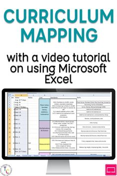 Curriculum Mapping with Excel: A Video Tutorial