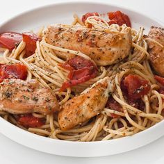 Roast plum tomatoes to bring out their sweetness. Add chicken tenders to the baking pan and you'll have a flavorful sauce to toss with pasta.