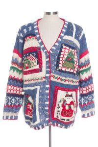Blue Ugly Christmas Cardigan 30485