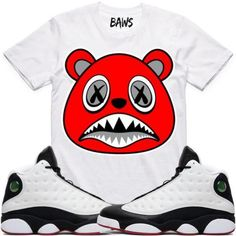 3415c3e876fbb1 Baws Sneaker Shirt by BAWS sneaker tee shirts to match the Air Jordan 13 He  Got Game is available on our online store.