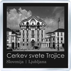 $3.29 - Acrylic Fridge Magnet: Slovenia. Ljubljana. Ursuline Church of the Holy Trinity